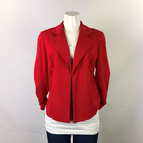Joseph Ribkoff Red Jersey Blazer Size 10